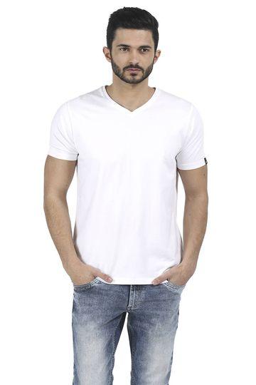 Basics | Basics Muscle Fit Bright White V Neck T Shirt