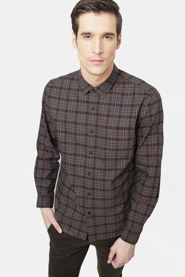 Basics | Basics Slim Fit Desert Palm Checks Shirt