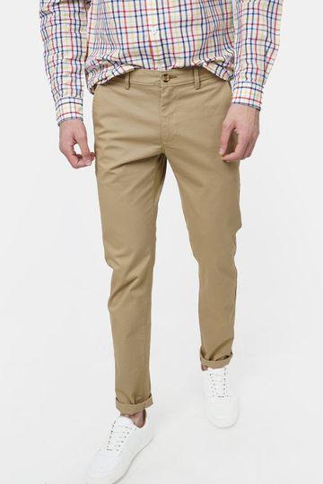 Basics | Basics Tapered Fit Cumin khaki Stretch Trouser