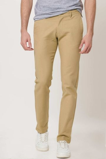 Basics | Basics Tapered Fit Candied Ginger Stretch Trouser