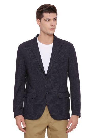 Basics | Basics Comfort Fit Mood Indigo 2 Button Knit Blazer