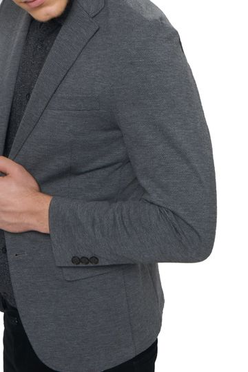 Basics | Basics Comfort Fit Dark Shadow 2 Button Knit Blazer