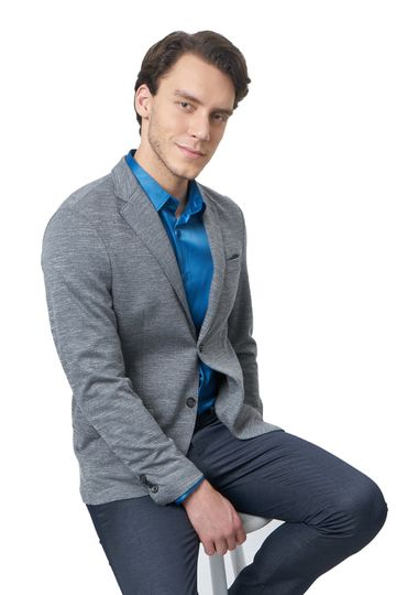 Basics | Basics Comfort Fit Gargoyle 2 Button Knit Blazer
