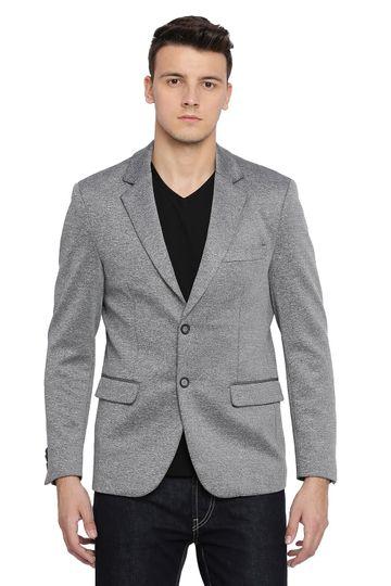 Basics | Basics Comfort Fit Titanium 2 Button Knit Blazer