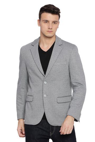 Basics | Basics Comfort Fit Ghost Grey 2 Button Knit Blazer