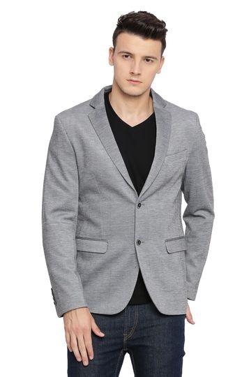 Basics | Basics Comfort Fit Griffin Grey 2 Button Knit Blazer