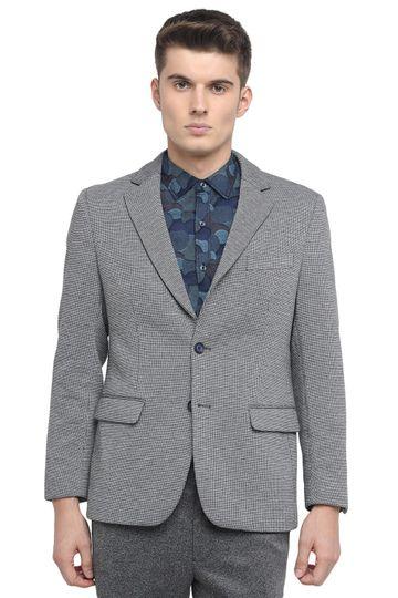 Basics | Basics Comfort Fit Stretch Limo 2 Button Knit Blazer
