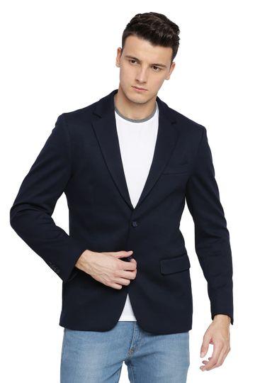 Basics | Basics Comfort Fit Outer Space 2 Button Knit Blazer