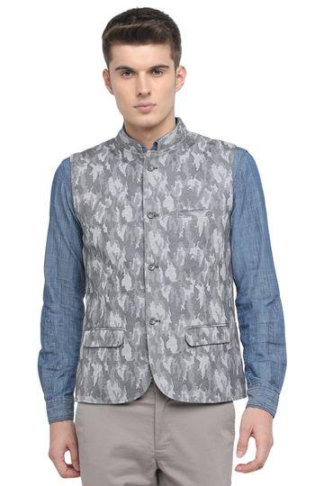 Basics | Basics Slim Bandhgala Drizzle Knit Jacket