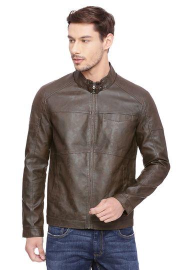 Basics | Basics Comfort Fit Thrush Faux Leather Jacket