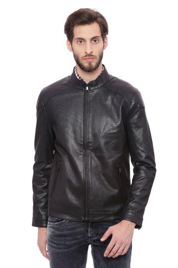 Basics | Basics Comfort Fit Phantom Faux Leather Jacket
