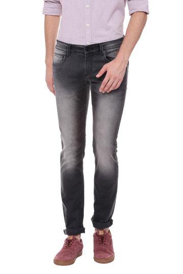 Basics | Basics Torque Fit Anthracite Black Stretch Jean