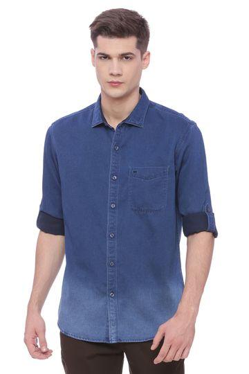 Basics | Basics Slim Fit Mood Indigo Shirt