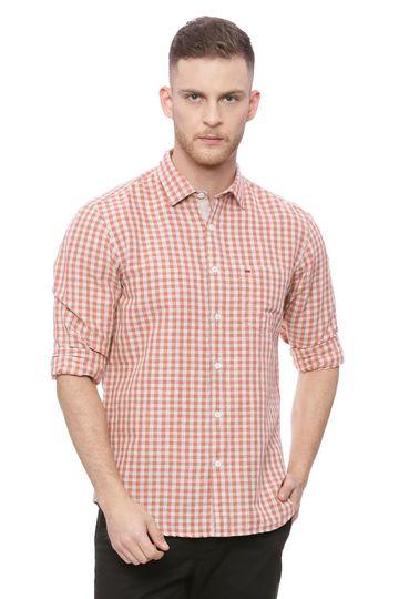 Basics | Basics Slim Fit Paprika Checks Shirt