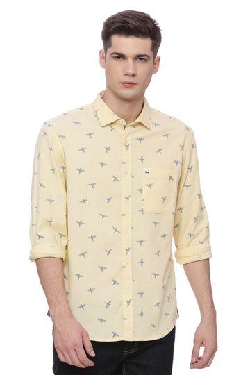 Basics | Basics Slim Fit Golden Haze Printed Shirt