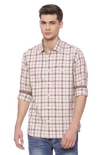 Basics | Basics Slim Fit Papyrus Checks Shirt