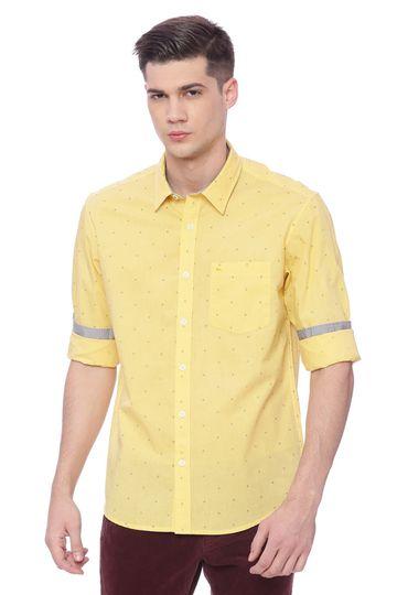 Basics | Basics Slim Fit Snap Dragon Printed Shirt