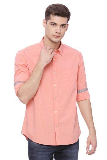 Basics | Basics Slim Fit Shrimp Orange Fil a Fil Shirt