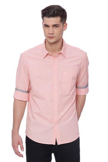 Basics | Basics Slim Fit Rose Cloud Fil a Fil Shirt