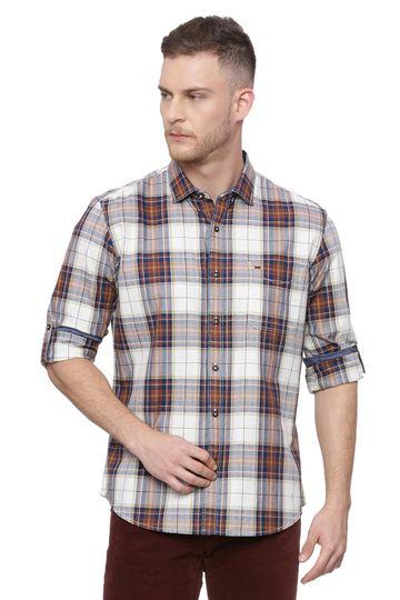Basics   Basics Slim Fit Glazed Ginger Checks Shirt