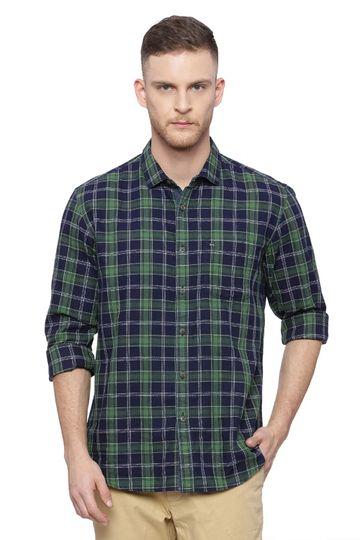 Basics | Basics Slim Fit Willow Bough Checks Shirt