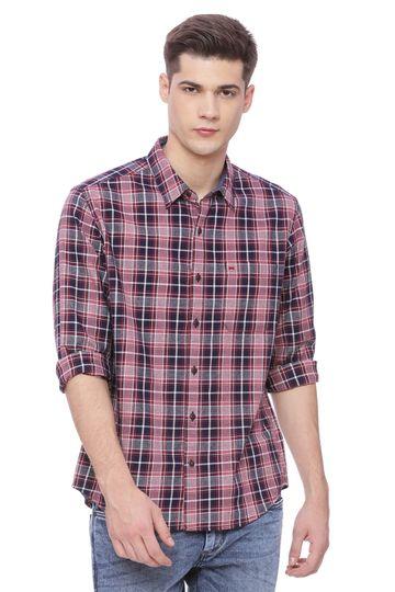 Basics | Basics Slim Fit Jester Red Checks Shirt
