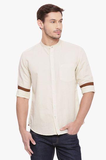 Basics | Basics Slim Fit Angora Cotton Linen Shirt