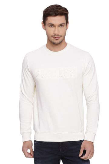 Basics | Basics Muscle Fit Clotted Cream Pullover Sweater