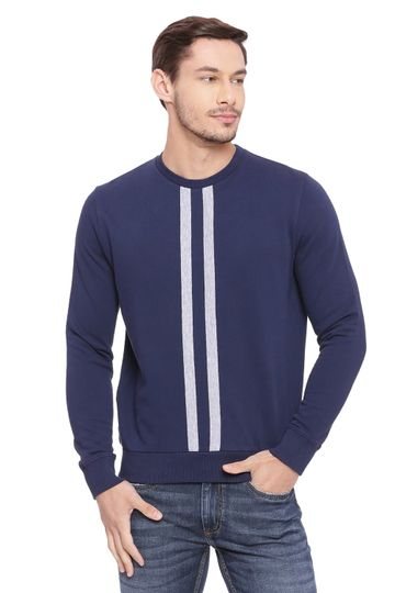 Basics | Basics Muscle Fit Dress Blue Pullover Sweater