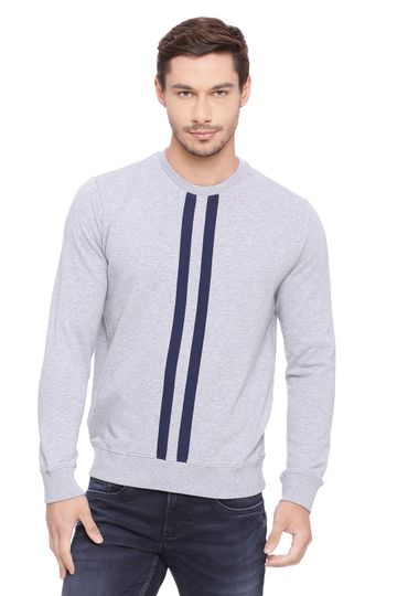 Basics | Basics Muscle Fit Mid Grey Mel Pullover Sweater