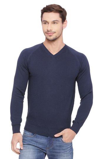 Basics | Basics Muscle Fit Dress Navy V Neck Sweater
