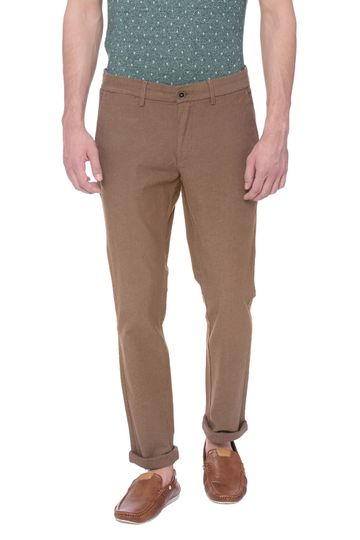 Basics | Basics Tapered Fit Antique Bronze Brown Stretch Trouser