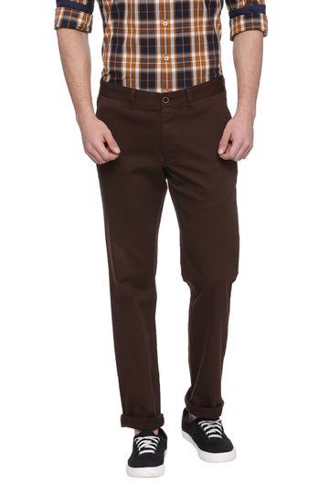 Basics   Basics Skinny Fit Teak Brown Stretch Trouser
