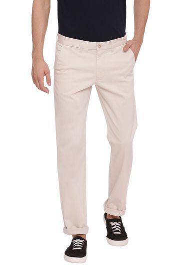 Basics | Basics Skinny Fit Turtle Dove Ecru Stretch Trouser