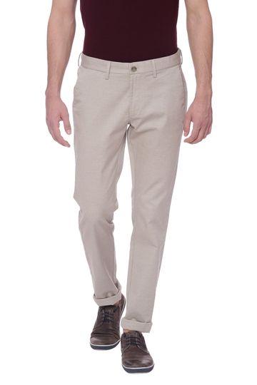 Basics | Basics Skinny Fit Oatmeal Beige Stretch Trouser