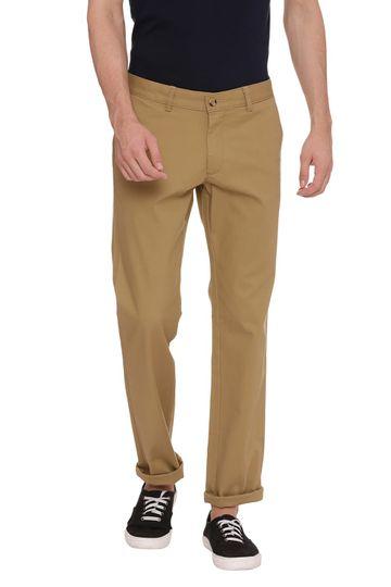 Basics   Basics Skinny Fit Dull Gold Khaki Stretch Trouser