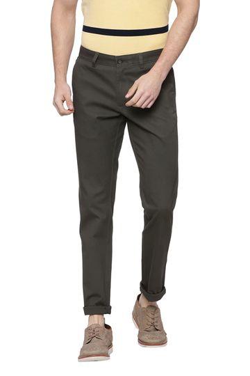 Basics | Basics Skinny Fit Duffel Bag Green Stretch Trouser