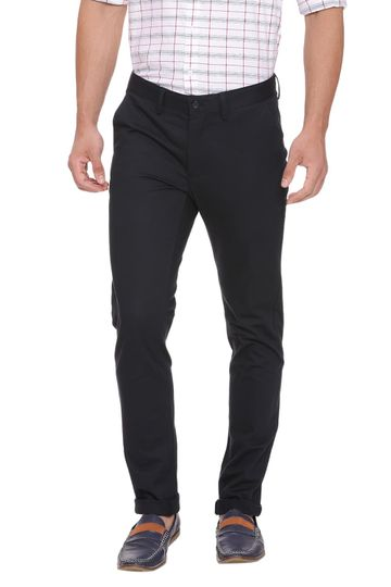 Basics   Basics Skinny Fit Midnight Navy Stretch Trouser