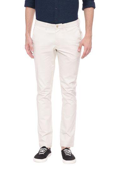 Basics | Basics Skinny Fit White Asparagus Stretch Trouser