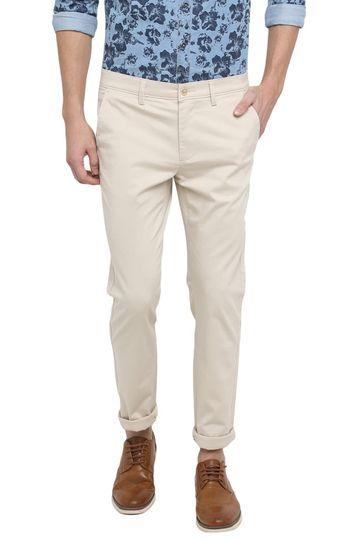 Basics | Basics Skinny Fit Pebble Ecru Stretch Trouser