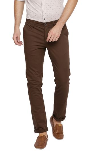 Basics   Basics Skinny Fit Major Brown Stretch Trouser