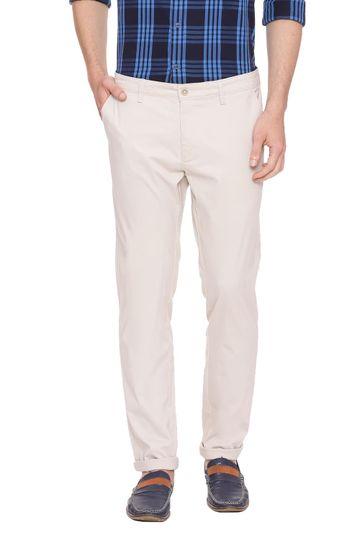 Basics | Basics Skinny Fit Fog Ecru Stretch Trouser