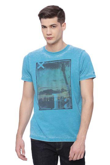 Basics | Basics Muscle Fit Capri Breeze Aqua Crew Neck T Shirt