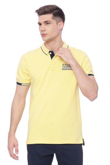 Basics | Basics Muscle Fit Lemon Drop Yellow Polo T Shirt