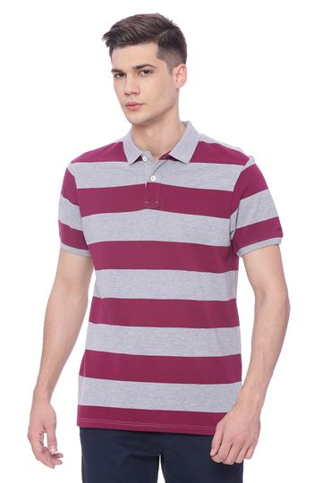Basics | Basics Muscle Fit Purple Potion Polo T Shirt