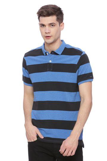 Basics | Basics Muscle Fit Heather Blue Polo T Shirt