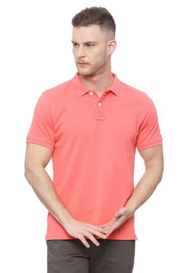 Basics | Basics Muscle Fit Coral Polo T Shirt