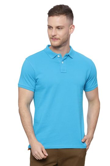 Basics | Basics Muscle Fit Marine Blue Polo T Shirt