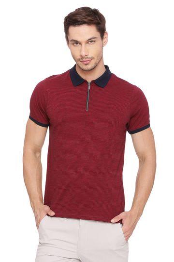 Basics | Basics Muscle Fit Dark Red Polo T Shirt