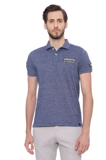Basics | Basics Muscle Fit Insignia Blue Polo T Shirt